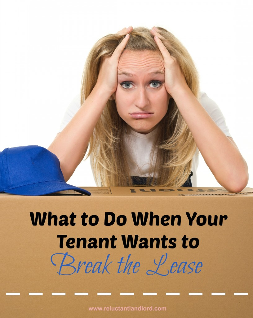 What to do When Your Tenant Wants to Break the Lease