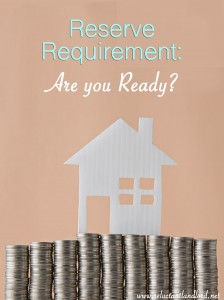 Reserve Requirement: Are you Ready?