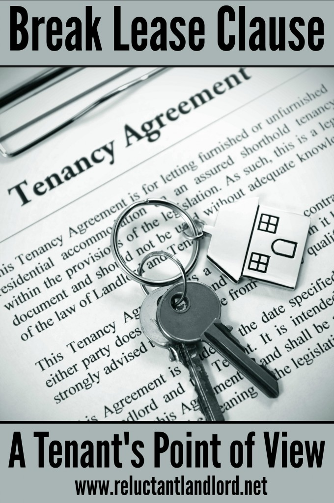 Break Lease Clause: A Tenant's Point of View