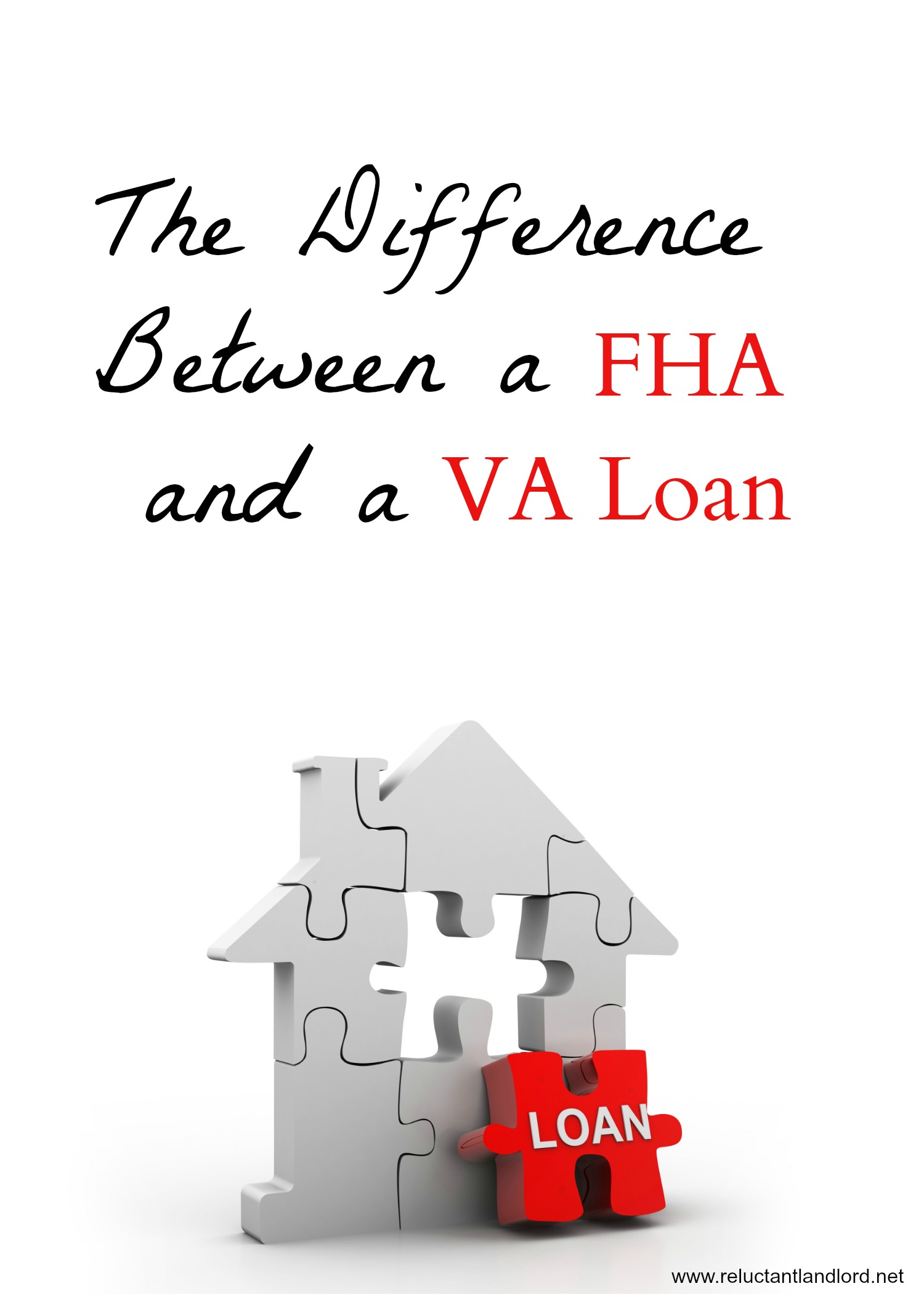 the difference between fha and a va loan the reluctant landlord. Black Bedroom Furniture Sets. Home Design Ideas