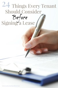 24 Things Every Tenant Should Consider Before Signing a Lease