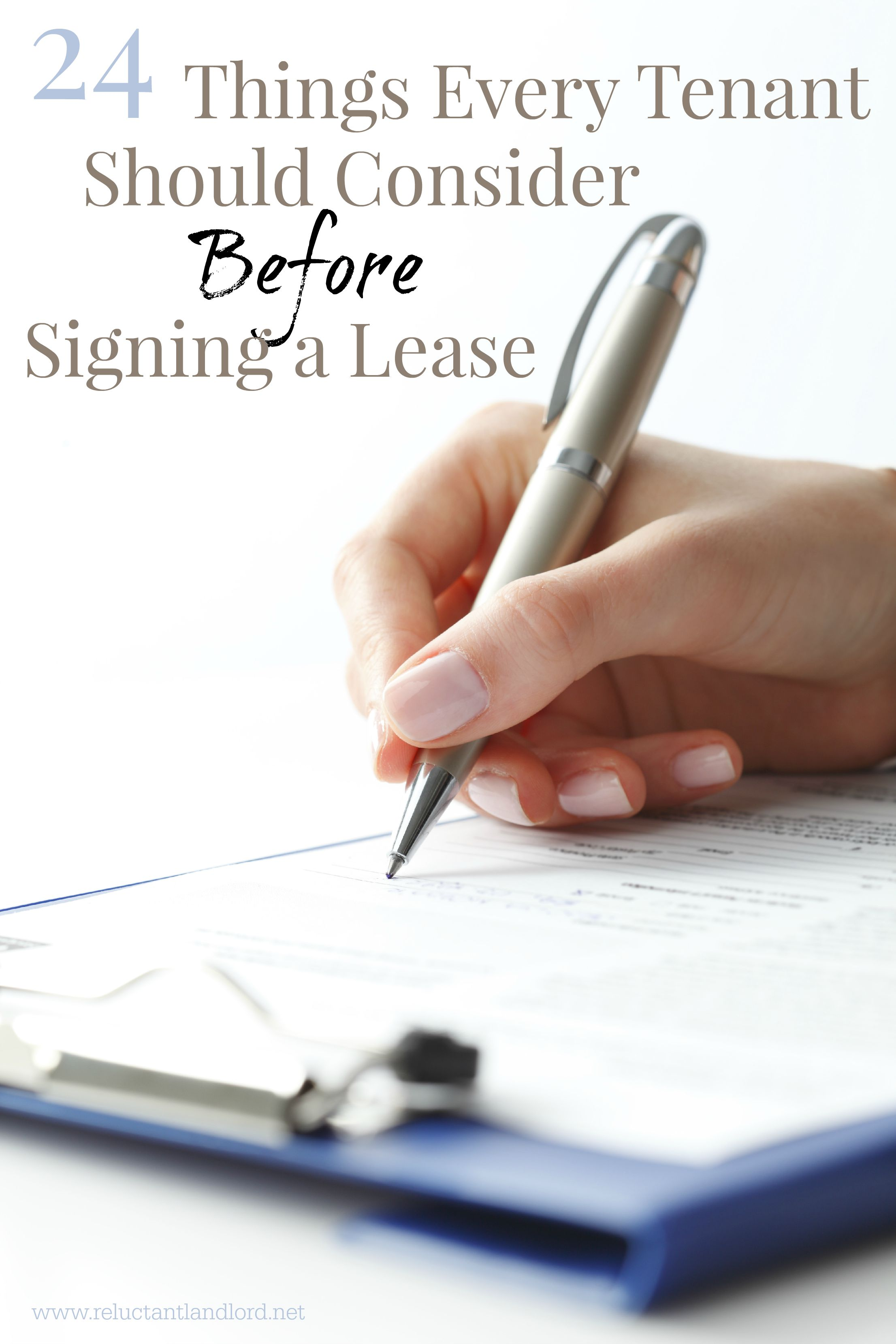 How Do You Word A Liability Release For A Tenant To Sign
