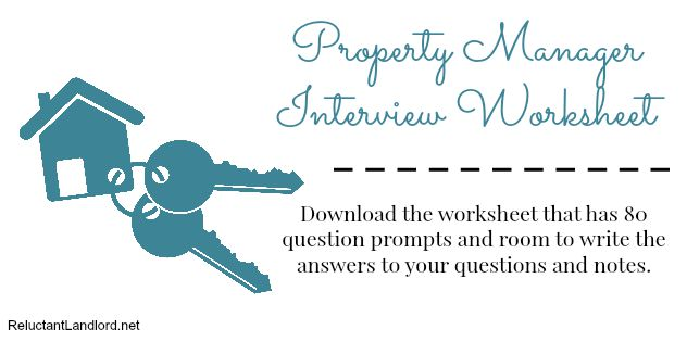 Property Manager Interview Worksheet