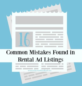 16 Common Mistakes Found in Rental Ad Listings