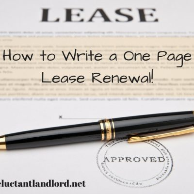 How to Write a One Page Lease Renewal!