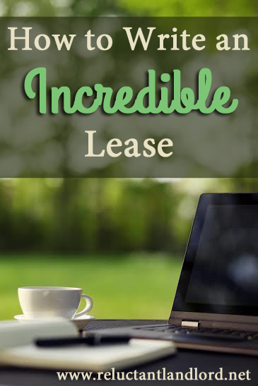 How to Write an Incredible Lease