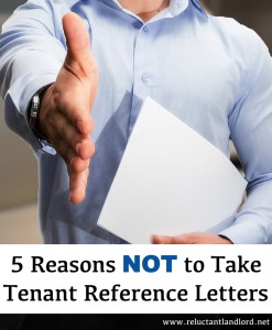 Reasons Not to Take Tenant Reference Letters