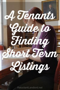 A Tenants Guide to Finding Short Term Listings