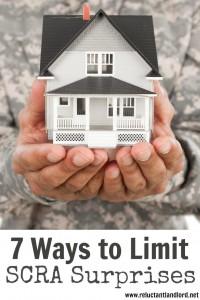 7 Ways to Limit SCRA Surprises