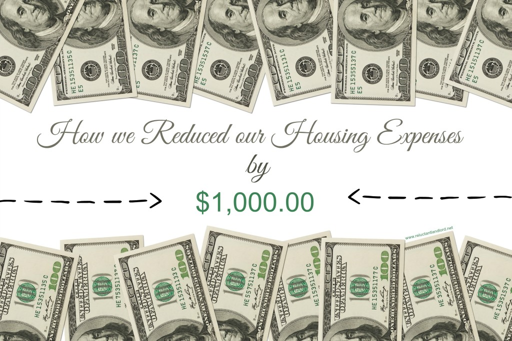 How we reduced our housing expenses