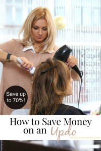 How to Save Money on an Updo