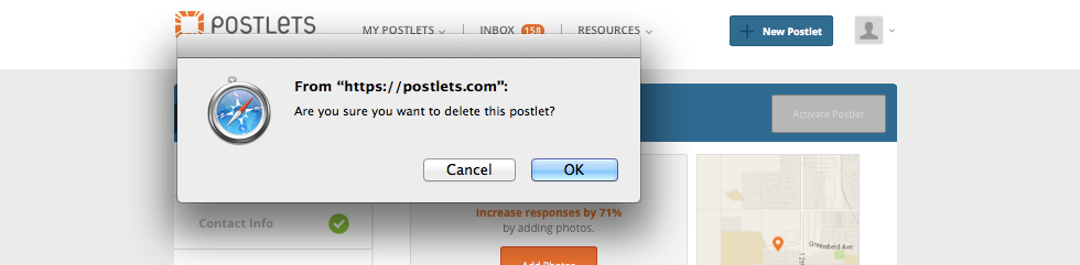 How to Delete an Postlets Ad